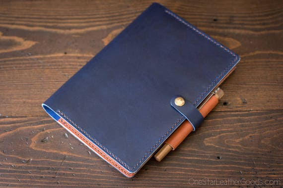 Cover for Hobonichi Cousin planner (fits some other A5 notebooks) - blue