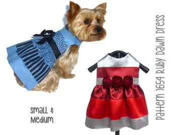 Ruby Dawn Dog Dress Pattern 1654 * Small & Medium * Dog Clothes Sewing Pattern * Dog Harness Dress * Designer Dog Clothes * Dog Apparel