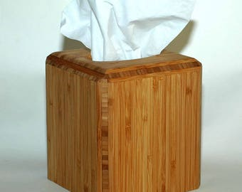 Tissue box cover in made from sustainable Bamboo