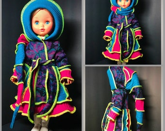 Upcycled Sweater Coat fits 18inch American Girl Doll