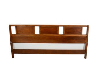 King Size Walnut Head Board Headboard Mid Century Modern