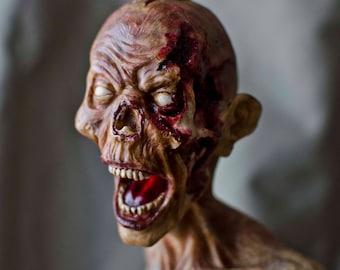 Screaming Zombie Figurine