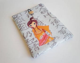 Tablet case, iPad case, iPad Air sleeve, Kokeshi, Galaxy Tab sleeve, iPad sleeve, eReader case, Tablet sleeve, iPad sleeve, iPad case