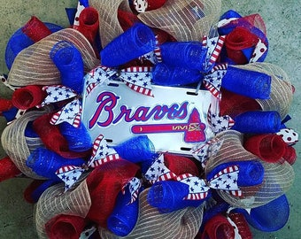 Braves Baseball Wreath