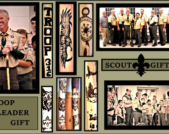 scout leader gift,scout gift,scout stick,boyscout gift,hiking stick,waling stick