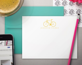 Personalized Stationery | Kids Personalize Stationary | Notecard Set | BICYCLE | Stationary Set | Personalized Note Cards | Bike Stationery