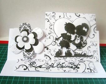 Love child black and white tent card