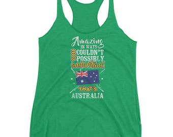 My Country is Australia Canberra Amazing Aussie Flag Tank top