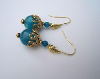 Turquoise agate earrings