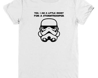 Short for a Stormtrooper Kids Shirt Gift Star Wars Fan Child Youth