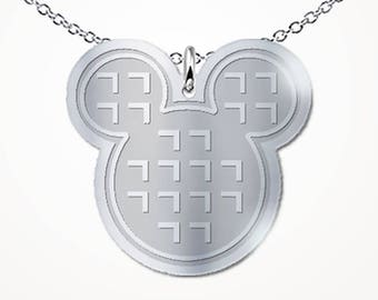 Mickey Waffle Necklace Character Breakfast Waffles Snack Goals Love Gift Jewelry
