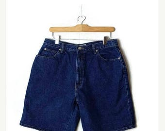 ON SALE Vintage Blue Denim Shorts from 90's/W29*