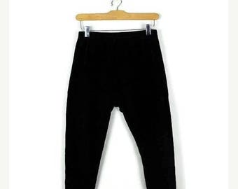 ON SALE Ralph Lauren Black Corduroy Stretchy Tapered Pants/Leggings from 90's*
