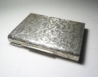 Sterling silver minaudiere Italian silver 1950s bridal clutch nécessaire hallmarked