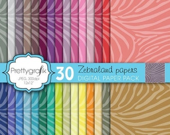 80% OFF SALE zebra animal print digital paper, commercial use, scrapbook papers, background  - PS599