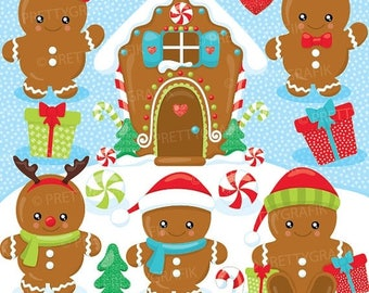 80% OFF SALE 80 Percent 0FF Sale Gingerbread babies  clipart commercial use, vector graphics, digital clip art, christmas - Cl930