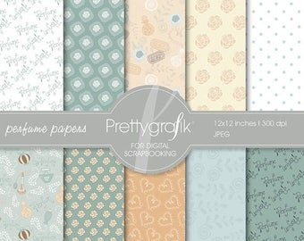 80% OFF SALE Perfume digital paper, commercial use, scrapbook papers, background - PS519