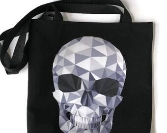 Skull Bag • Tshirt Tote Bag • Skull Gift • Upcycled Bag