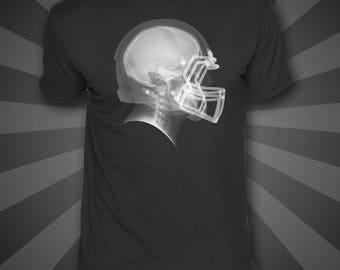 Football helmet x-ray t-shirt