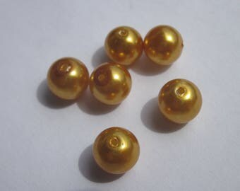 glass Pearl 8 mm - PV19 2 - 6 round beads