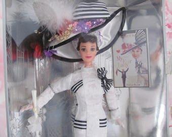Vintage Barbie Doll, 1990's My Fair Lady Barbie Doll Set, NRFB, Brunette Barbie Eliza Doolittle, Audrey Hepburn, Ascot Outfit