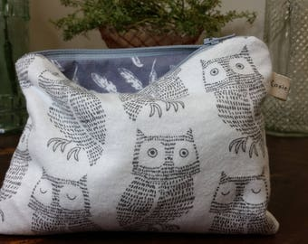 Grey & White Owl Bag