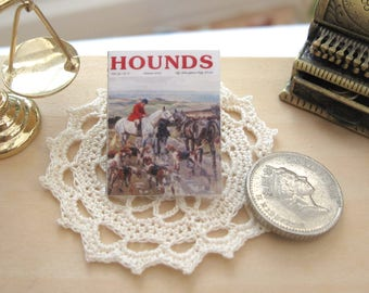dollhouse vintage country magazine fox hounds 12th scale miniature