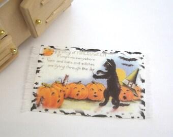 dollhouse halloween rug mat 12th scale miniature
