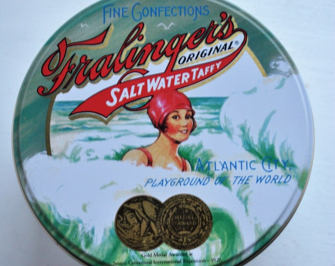Fralingers Salt Water Taffy Art Deco Tin Reproduction