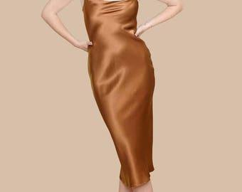 BRIDESMAID SILK DRESS | Beautiful Pure Silk Midi Bridesmaids Dresses | Exceptional Pure Silk Available in Gorgeous Colors | Maxi Length