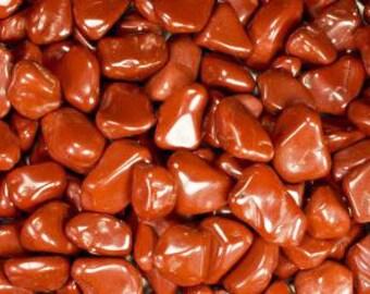 Bulk 1lb Tumbled Red Jasper Gemstones, Bulk Wholesale Tumbled Stones, Tumbled Red Jasper Gemstones, 1 Pound Gemstone Lot Wholesale