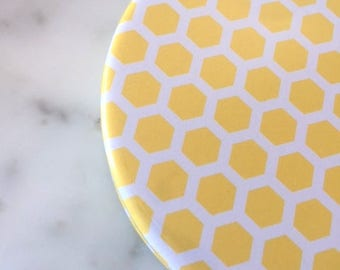 4 Honeycomb Coasters - Honeycomb Shower Favors - Honeycomb Home Decor - Mom to Bee Baby Shower