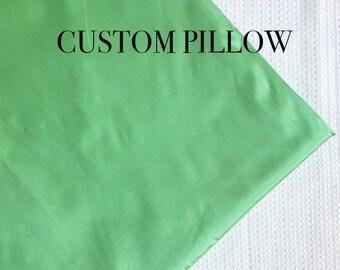 Mint Pillow, Custom Pillow, Silk Pillow, Art silk pillow, Taffeta pillow, Throw Pillow, Couch Pillow,-  MINT- Choose Size -1 Piece -PS17