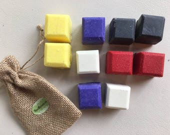 Mondrian Style BATH TRUFFLES, melts, bomb,fizzy-Handmade by SPA Uptown-All natural, Organic,vegan-Clay Charcoal,lemon,lavender,coconut etc