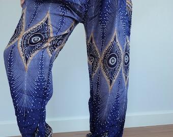 SM00 Genie Pants Comfy Trouser, Gypsy Pants Rayon Pants,Aladdin Pants Maxi Pants Boho Pants - in Green