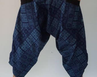 HC0567 Elastic waist Samurai Pants  - elastic waistband and cuffs - Fits all!  Unisex pants These beautiful casual pants is unique & co