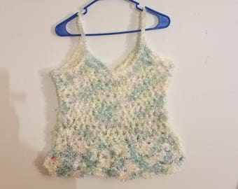Crochet Multicolored Fishnet Tank Top