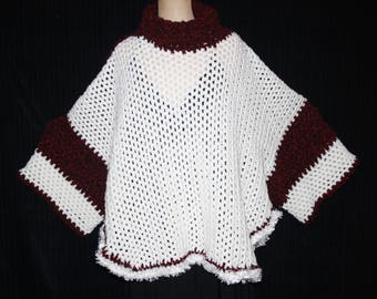 very original and Super warm poncho with wide sleeves