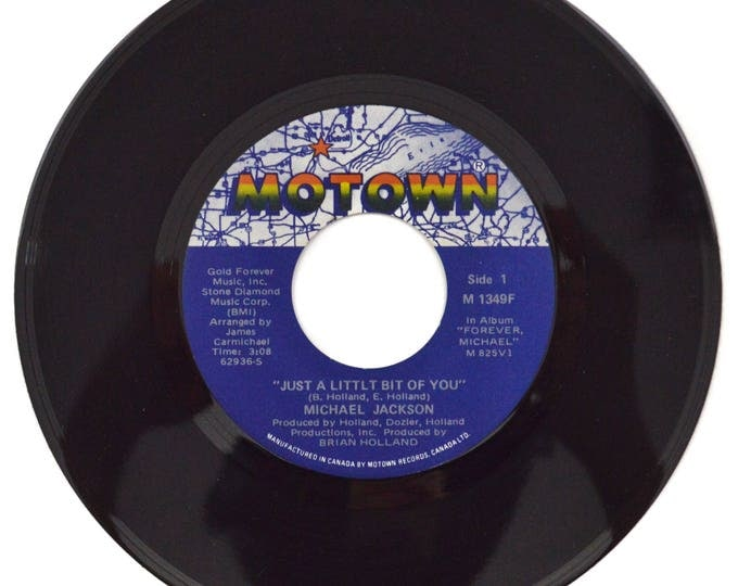 Vintage 70s Michael Jackson Just a Little Bit of You 45 RPM Single Canada Record Vinyl