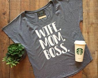 Dolman- Wife. Mom. Boss