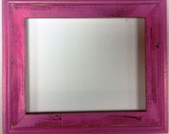 "1-3/4"" Hot Pink Distressed Picture Frame"