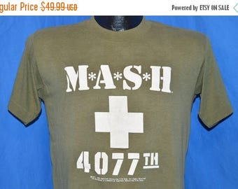 ON SALE 80s M*A*S*H Mash 4077th Tv Show Olympics Games Promo Olive Green t-shirt Medium