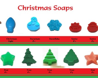 Christmas Soaps ~ Your Choice ~ Lot of 5 Soaps