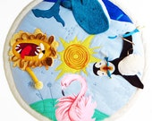 Interactive baby play mat Animal theme nursery decor Activity mat with frog, tummy time mat