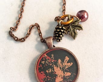 Leaf jewelry, leaf, fall jewelry, fall necklace, fall, leaf pendant, hostess gifts, fall gifts, leaf necklace
