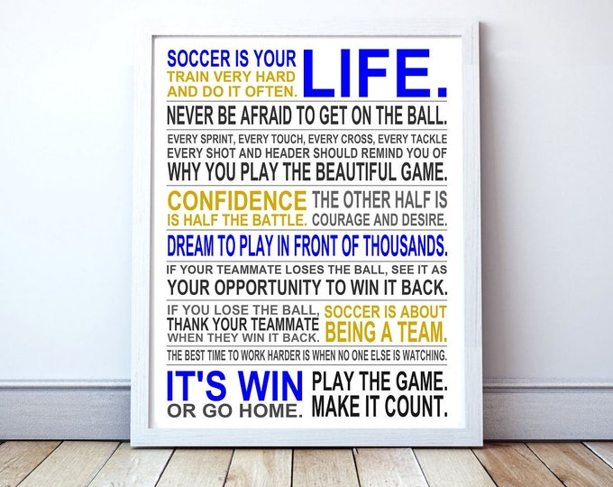 Soccer Is Your Life DIGITAL DOWNLOAD - Manifesto Poster Print