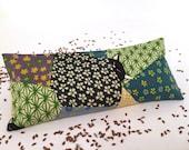 Organic Lavender Eye Pillow, Cats, Quilts, restorative gift, aromatherapy, meditation, yoga gift, yoga accessory, savasana