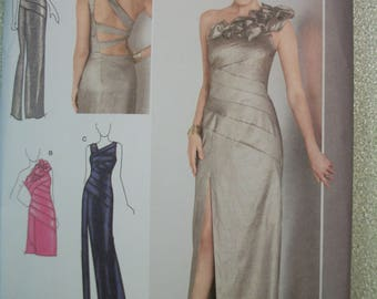 Simplicity 1874 Misses (Size H5 -6-8-10-12-14) & (R5 14-16-18-20-22) Special Occasion dress in two lengths with back variations.