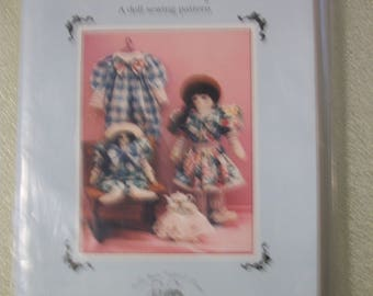 "The Button & Bows Collection ""Ashley"" a doll sewing pattern"