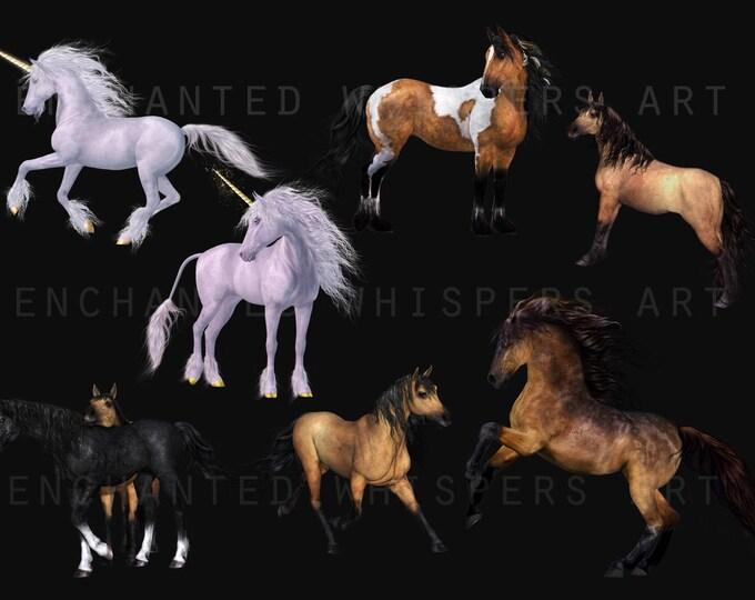 horse and Unicorn overlays for Photoshop